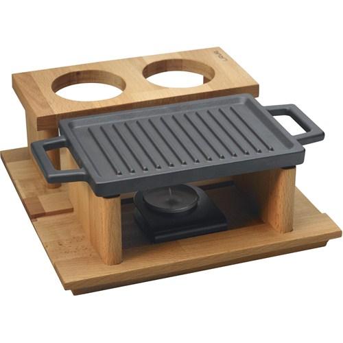 Lava Hot Plate Ve Ahşap Stand, Dikdörtgen, 22X30cm.