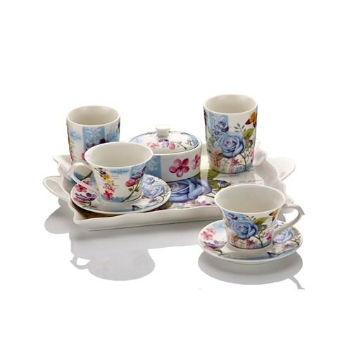 Fidex Home Porselen Kahve Seti 9 Parça