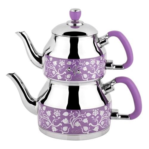 Özkent K-333 Symbol Desenli Çaydanlık Lila