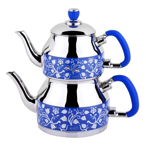 Özkent K-335 Symbol Mega Desenli Çaydanlık Mavi