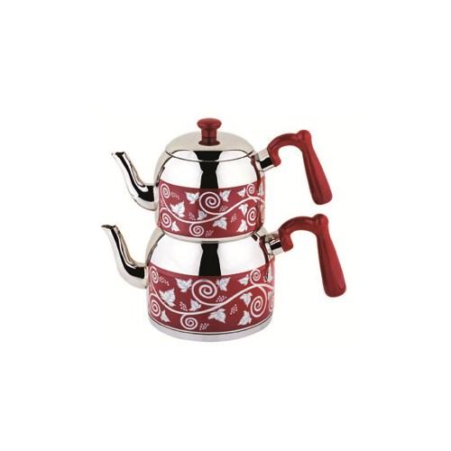 Özkent K-375 Menekşe Desenli Mega Çay. Kırmızı
