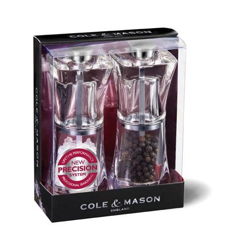 Cole & Mason H37408p Crystal 125Mm Tuz&Biber Değirmeni Seti