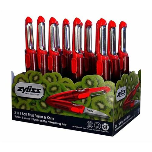Zyliss E950002 Soyacak Ve Bıçak Kırmızı (Stand 12 Adet)