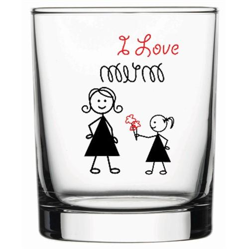Joy Glass I Love Mum 6'Lı Su Bardağı