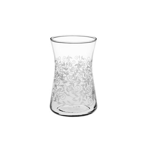 Joy Glass 6 Lı Heybeli Şal Desen Çay Bardağı