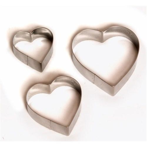 Atadan Cute Kalpli Metal 3 lü Bisküvi Kalıbı