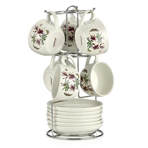 Noble Life Beuty Altı Kişilik Standlı Çay Fincanı Seti - 22036