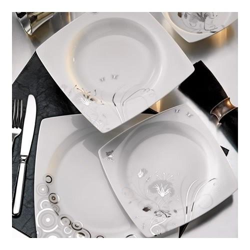 Kütahya Porselen Aliza Bone 83 Parça 25106 Desenli Yemek Takımı