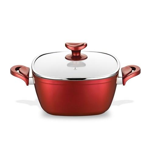 Gastronomie Derin Tencere 24 Cm Kırmızı