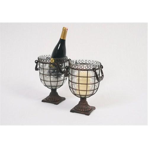 I Love Home Beyaz Cam Bronz Şampanyalık