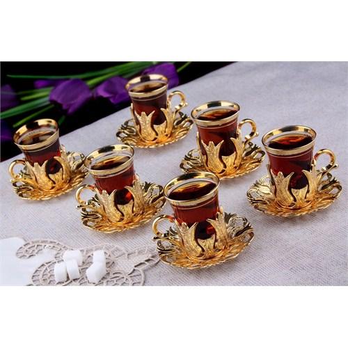 Sena Hanedan Çay Seti Altın Sarı