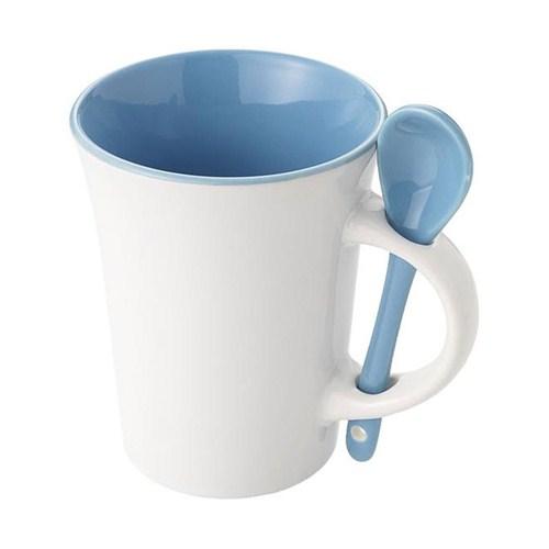 Pf Concept 11246101 Kaşıklı Seramik Kupa Mavi Beyaz