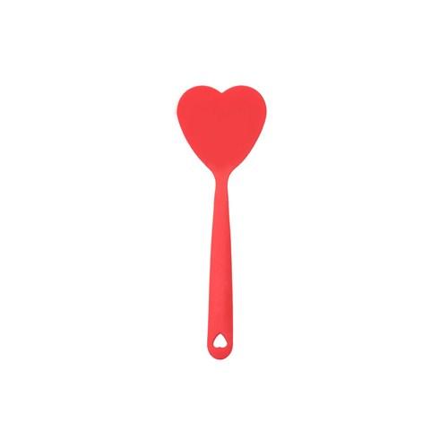 Tantitoni Silikon Kalp Şekilli Kırmızı Spatula