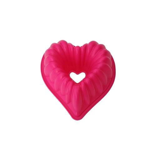 Tantitoni Silikon Pembe Kalp Şekilli Kek Kalıbı