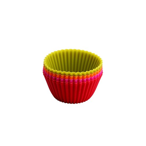 Tantitoni Silikon Renkli 8Li Muffin Kalıbı