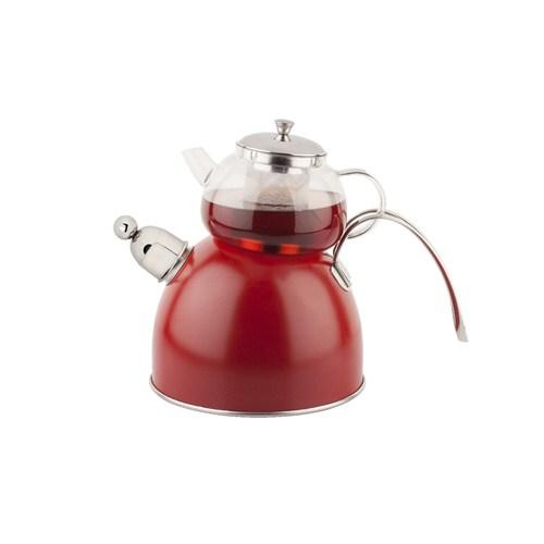 Tantitoni S S Chef N. Kırmızı Düdüdüklü Çaydanlık Takımı