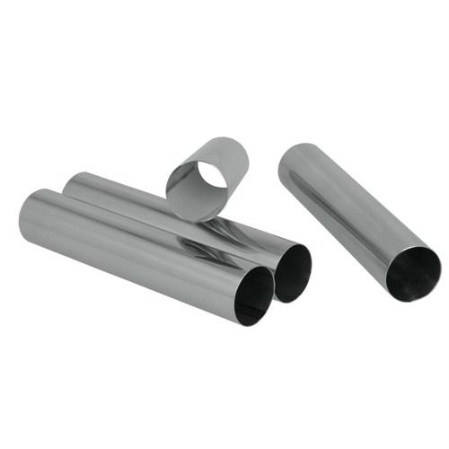 Metaltex Paslanmaz Çelik Silindir Şekilli Kalıp ( 4 Lü Set )