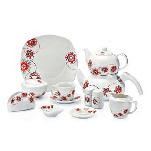 Güral Porselen 43 Parça 52744 Köşeli Kahvaltı Seti