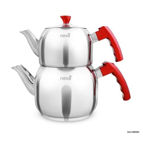 Neva N013 Cortes Maxi Çaydanlık Takımı Kırmızı