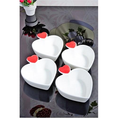 Royal Windsor New Bone China 4'Lü Kalp Çerezlik