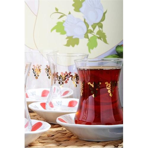 Royal Windsor 12 Parça Altın Yaldızlı Nostalji Çay Seti