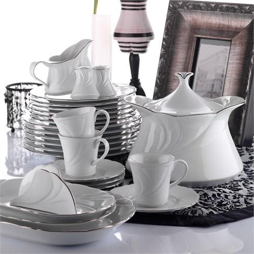 Kütahya Porselen Troya 12 Kişilik 85 Parça Yemek Takımı