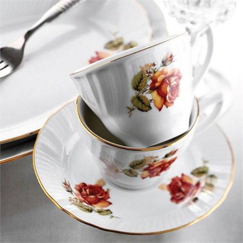 Kütahya Porselen Diana Güllü Çay Takımı