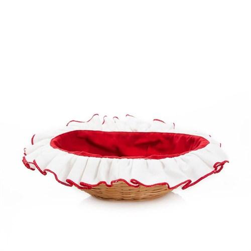 Yastıkminder Kırmızı Beyaz Ekmek Sepeti