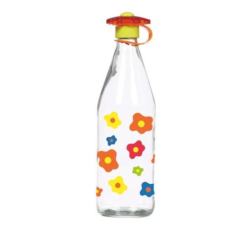 Herevin Çiçek Desenli Su-Süt Şişesi 1 Lt