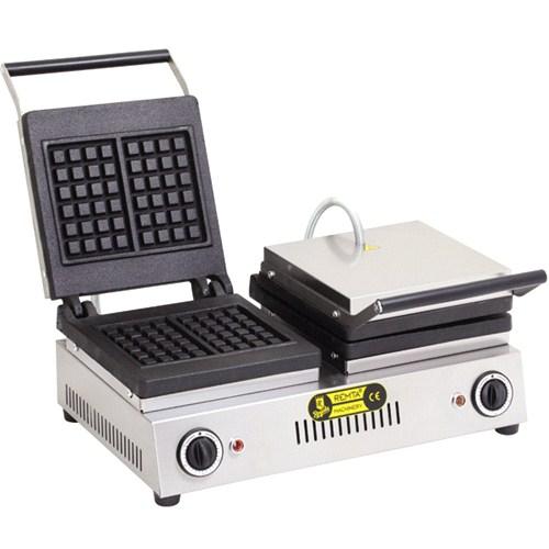 Remta Çiftli Kare Model Waffle Makinası Elektrikli