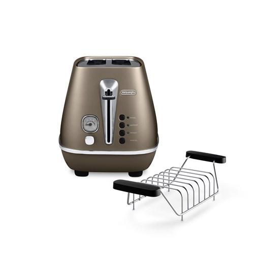 Delonghi Distinta CTI2103.BZ Ekmek Kızartma Makinesi (Bronz)