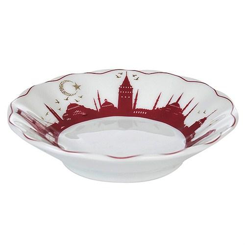 İpek Porselen 6 Lı Çay Tabağı
