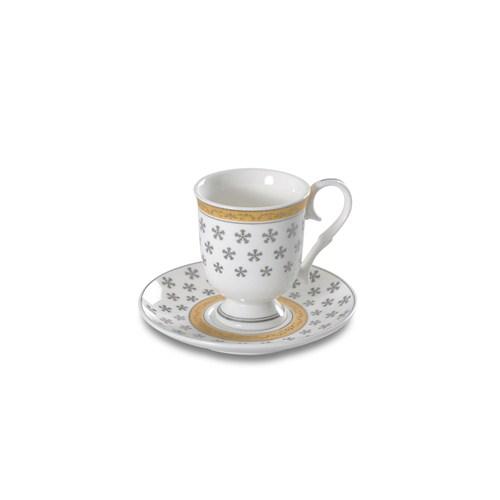 Dearybox Nergis Kar Tanesi Bone China Türk Kahve Fincan Takımı