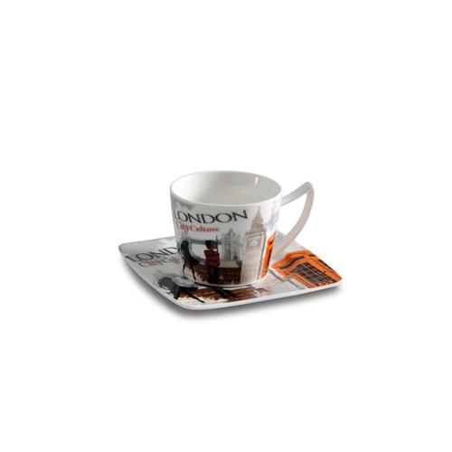 Dearybox London Panorama China Türk Kahve Fincan Takımı