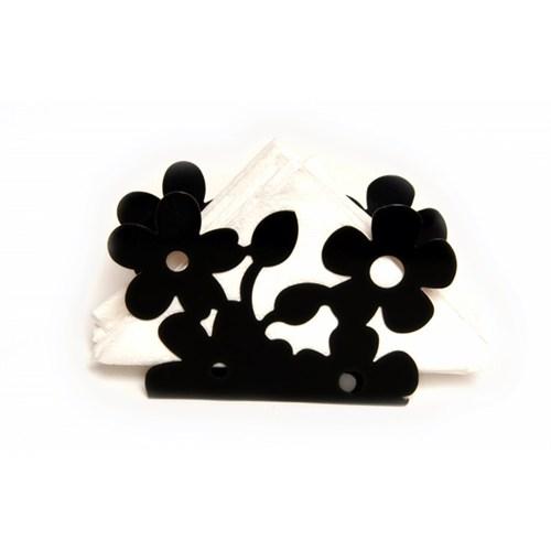 Atadan Çiçek Ferforje Peçetelik-Siyah