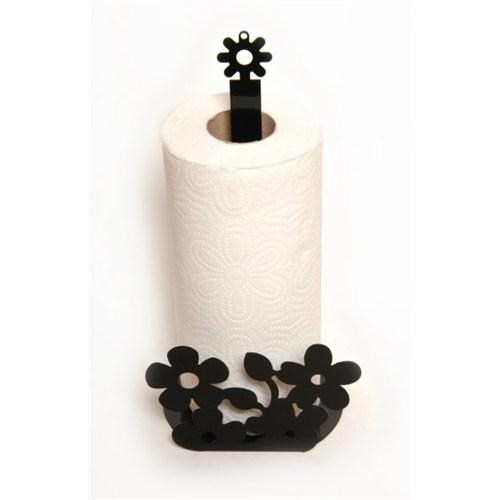 Atadan Çiçek Ferforje Havluluk-Siyah
