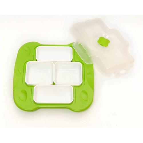 Atadan 4 Lü Plastik Kahvaltı Seti-Yeşil-Sc305