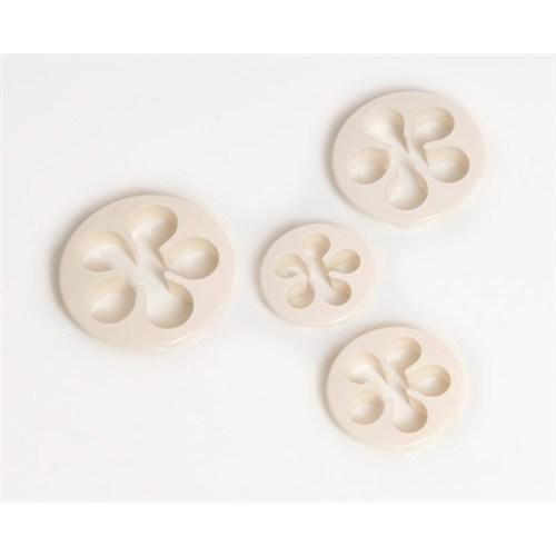 Atadan 4 Lü Plastik Bisküvi Kalıbı-Beyaz-Pd3321