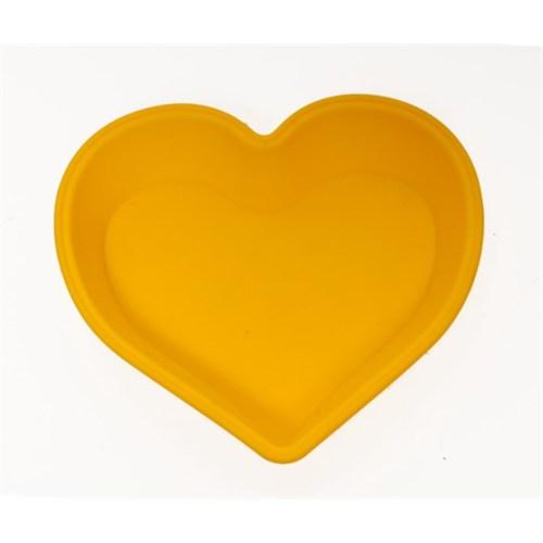 Atadan Kalpli Büyük Silikon Kek Kalıbı-Sarı