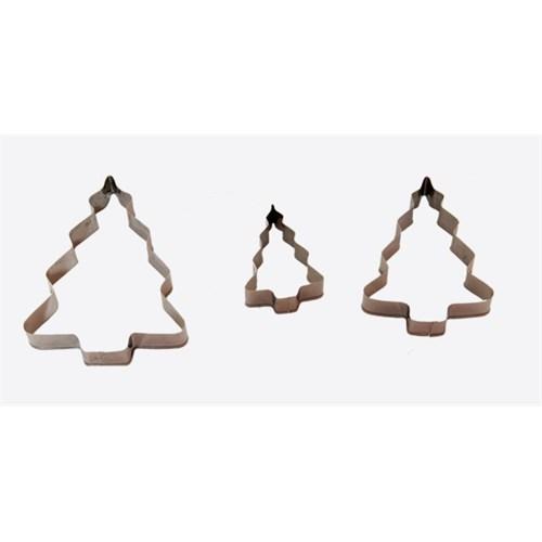 Atadan 3 Lü Metal Bisküvi Kalıbı-Ağaç-G90612
