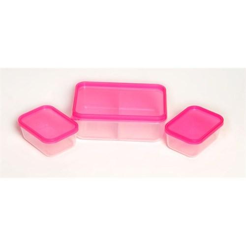 Atadan 3 Mini Saklama Kutuları-Pembe