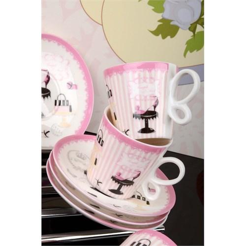 Royal Windsor Madam Figürlü Özel Kutulu Porselen 6 Kişilik Kahve Fincan Takımı