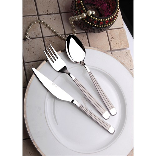 Yetkin Gökkuşağı 12 Adet Yemek Bıçağı - Saten