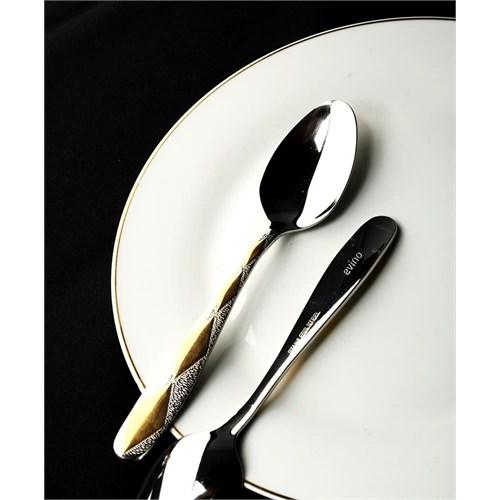 Evino 6'Lı Yemek Kaşığı - Paslanmaz Çelik