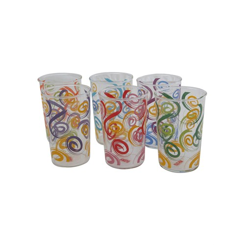 Fidex Home Renkli Meşrubat Bardağı 6Lı