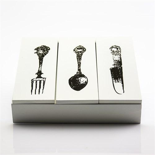 Mukko Home Ahşap Çatal Kaşık Bıçak Kutusu (Küçük)