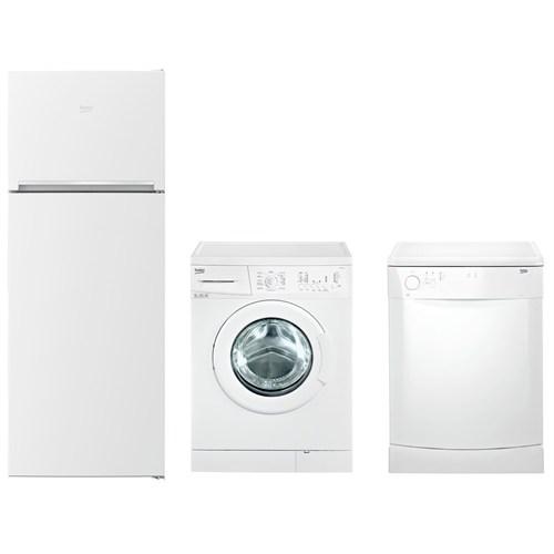 Beko 3'lü Beyaz Eşya Paketi(B1 8550 SM 550 Lt Buzdolabı + D3 5061 5 Kg Çamaşır Makinesi + D3 2001 T 2 Programlı Bulaşık Makinesi)
