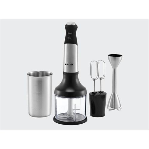 Arçelik K 1280 El Blender Setı 750 W.+İnox Gövde Çelik Blender