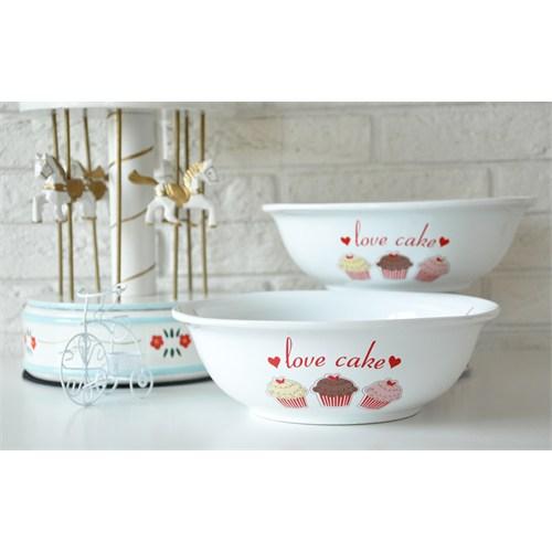 Keramika Kase Diyar 25 Cm Beyaz 004 Fruit Cake 25 Cm Diyar Kase