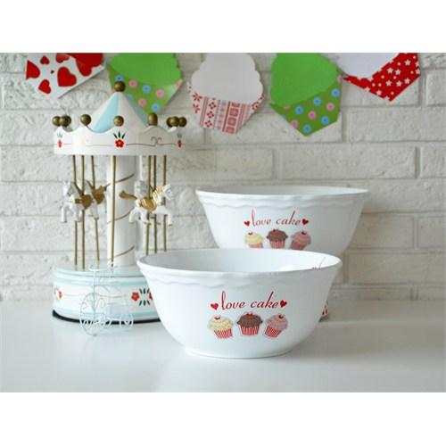 Keramika Kase Julıet 25 Cm Beyaz 004 Fruit Cake 25 Cm Julıet Kase